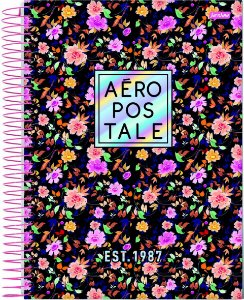Caderno Espiral Universitário Capa Dura Sortida Jandaia Aeropostale Feminino 20cm x 27cm 10 Matérias 160 folhas R.69525 Unidade