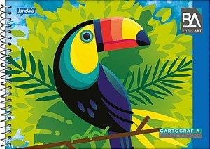 Caderno Espiral Desenho Capa Dura Jandaia Basic Art 27cm X 20cm Com 96 folhas R.59431 Unidade