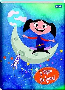 Caderno Brochura Universitário Capa Dura Sortida Jandaia Show da Luna 20cm x 27cm Com 80 folhas R.69482 Unidade