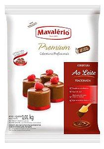 Cobertura Chocolate em Gotas Premium Mavalério Chocolate Ao Leite 1,01Kg R.04431 Unidade