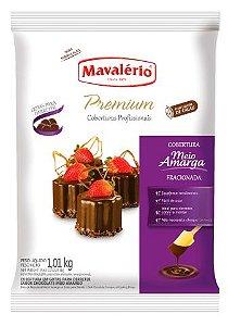 Cobertura Chocolate em Gotas Premium Mavalério Choclate Meio Amargo 1,01Kg R.04432 Unidade