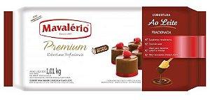 Cobertura Chocolate em Barra Premium Fracionada Mavalério Chocolate Ao Leite 1,01Kg R.09232 Unidade
