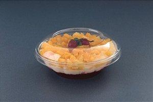 Embalagem Redonda Transparente Com Tampa Ideal para Doces Sobremesas Saladas de Frutas Galvano G684 750ml Unidade
