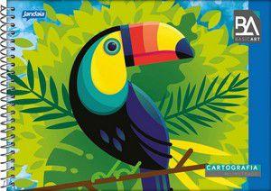 Caderno de Desenho Espiral Capa Dura Jandaia Basic Art 20cm x 27cm 96 Folhas R.03010 Unidade