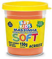Massinha de Modelar Soft Acrilex Laranja 150gr R.073150105 Unidade