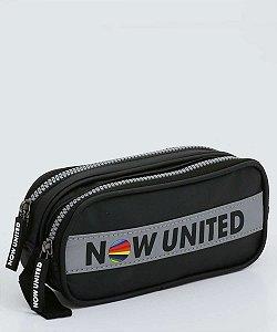 Estojo 2 Compartilhamentos Clio Now United 21cm x 9cm 7cm R.NU3259 Unidade