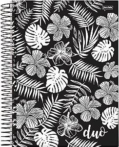 Caderno Espiral 1/4 Capa Dura Sortida Jandaia Duo 96 Folhas 14cm x 20cm R.61539 Unidade