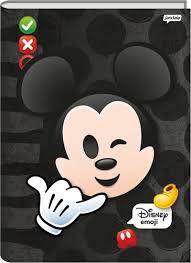 Caderno Brochura Universitário Capa Dura Sortida Jandaia Disney Emoji 20cm x 27cm 96 Folhas R.66700 Unidade