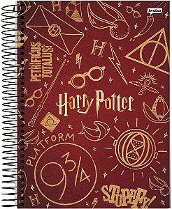 Caderneta 1/8 Espiral Capa Dura Sortida Jandaia Harry Potter 10cm x 14cm 96 Folhas R.63802 Unidade