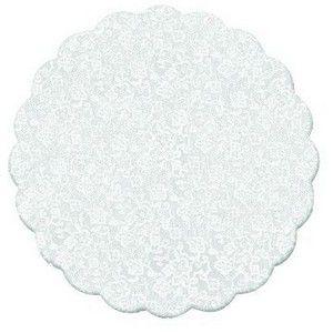 Fundo de Celofane para Prato Decorado Dani Rendado Branco 43cm x 43cm Unidade