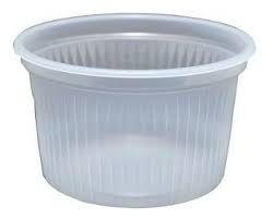 Pote Plástico Transparente Sem Tampa Totalplast de 250ml Pacote Com 50