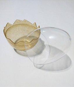 Embalagem para Ovo de Páscoa Pequeno Base Acrílica Com Glitter Cor Sortida + Tampa Acrílica Transparente 8cm x 8cm x 11cm Unidade