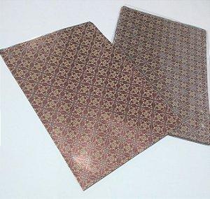 Saco Metalizado Decorado Clássico 70cm x 90cm Unidade