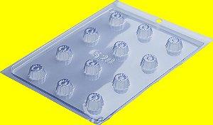 Forma Para Chocolate de Acetato - Bombom Detalhado Modelo 1 R.520 Unidade