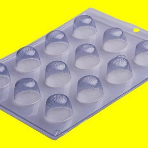 Forma de Acetato Para Chocolate - Bombom Riscado R.507 Unidade