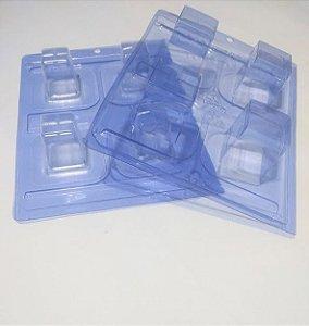 Forma Especial de Silicone para Chocolate - Modelo Cake Cubo R.51 Acompanha 2 Formas de Acetato + Película de Silicone Unidade