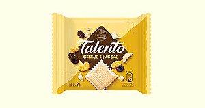 Chocolate Branco Garoto Talento Tablete Cereais e Passas 90 Gramas Unidade