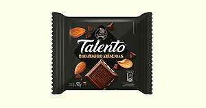 Chocolate Meio Amargo Garoto Talento Tablete Com Amêndoas 90 Gramas Unidade