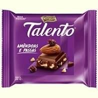 Chocolate Garoto Talento Amêndoas e Passas 25 Gramas Unidade