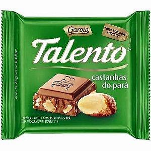 Chocolate Garoto Talento Castanhas do Pará 25 Gramas Unidade
