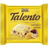Chocolate Branco Garoto Talento Cereais e Passas 25 Gramas Unidade