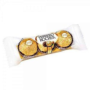 Bombom Chocolate Ao Leite Ferrero Rocher Com Avelãs 37,5 Gramas pacote com 3