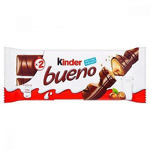 Wafer Chocolate Ao Leite Kinder Bueno Com Recheio Leite + Avelãs 43 Gramas Unidade