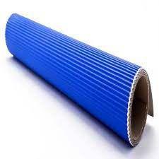 Papel Microondulado Azul 50cm x 80cm Unidade