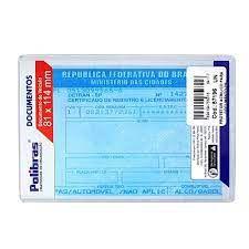 Porta Documento Em Acrílico Transparente Habilitação CNH 8,1 x 11,4cm R.064117 Unidade