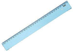 Régua Plástica New Line Cor Azul 30cm R.10270016 Unidade