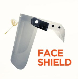 Face Shield com Acolchoado e Película Substitutíveis