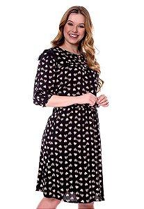 Vestido Valentina Preto Hapuk 60484 - Moda Evangélica
