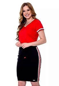 Vestido Quesia Vermelho 60668 Hapuk - Moda Evangélica