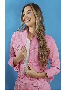 Jaqueta Tatá Martello Jeans Colors Rosa 1538