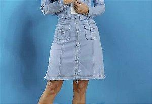 Saia Tatá Martello Jeans Colors Azul 2538