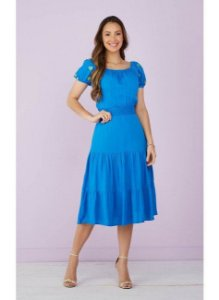 Vestido Bromélia Tatá Martello 9065 Azul