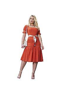 Vestido laise com entremeios em guipir vazado Fascínius 3.00236