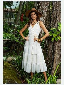 Vestido Chiffon 11515 Luzia Fazzolli - Moda Evangélica