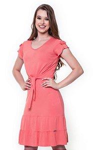 Vestido Daniele Coral 60413 - Moda Evangélica