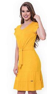 Vestido Daniele Amarelo 60413 - Moda Evangélica