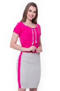 Vestido Débora 60383 Pink - Moda Evangélica