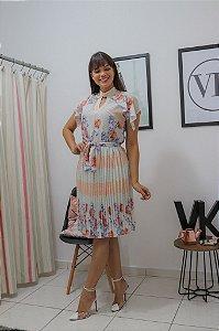 Vestido Floral Jany Pim 50351 - Moda Evangélica