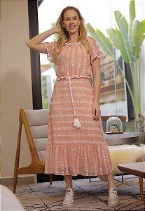Vestido Ana Sofia 15027 Fascinius - Moda Evangélica