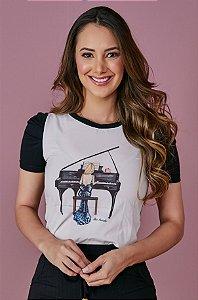Blusa t-shirt Tatá Martello Kelly 7050 - Moda Evangélica