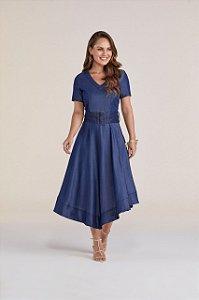 Vestido Mídi Titanium 4889 - Moda Evangélica