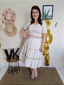 Vestido Viscolinho Titanium 5010 - Moda Evangélica