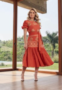 Vestido Fascinius Rafaela 14799 - Moda Evangélica