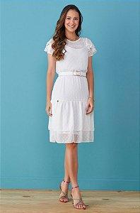 Vestido Tata Martello Laura 7190 Branco - Moda Evangélica