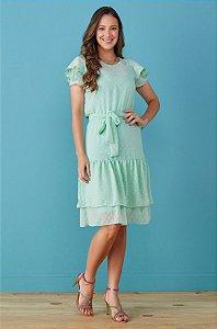 Vestido Tata Martello Laura 7190 Verde - Moda Evangélica