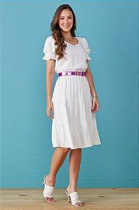 Vestido Tata Martello Paula Branco 7211 - Moda Evangélica